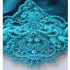 Opulent Lace Brief in Peacock Blue